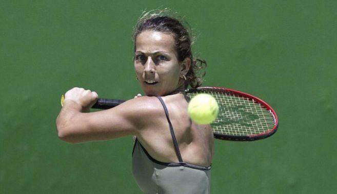 Gala León, durante un partido en el Open de Australia.