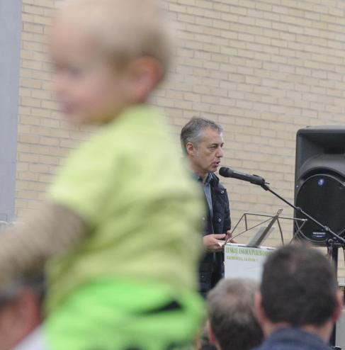 Urkullu, en el acto de apertura de la Fiesta de la Escuela Pública...