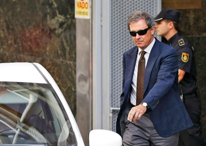 Jordi Pujol Ferrusola, el pasado lunes, tras declarar en la Audiencia...