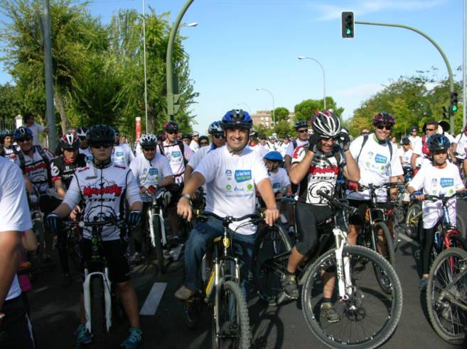 El alcalde de Móstoles en la ruta.