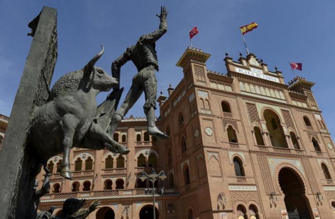 Fachada de la plaza de toros de Las Ventas en Madrid.