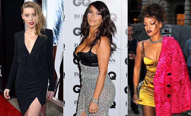 Amber Heard, Kim Kardashian y Rihanna.