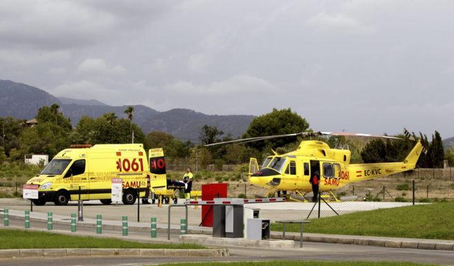 Helipuerto del hospital Son Espases de Palma, donde se encuentra...
