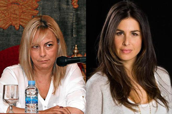 A la izquierda, la alcaldesa de Alicante en un pleno. A la derecha, la...