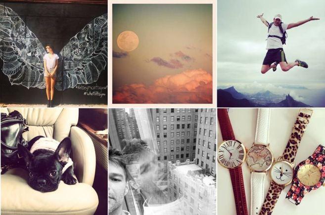 De izda. a dcha. y de arriba abajo, fotos tomadas de las cuentas de...