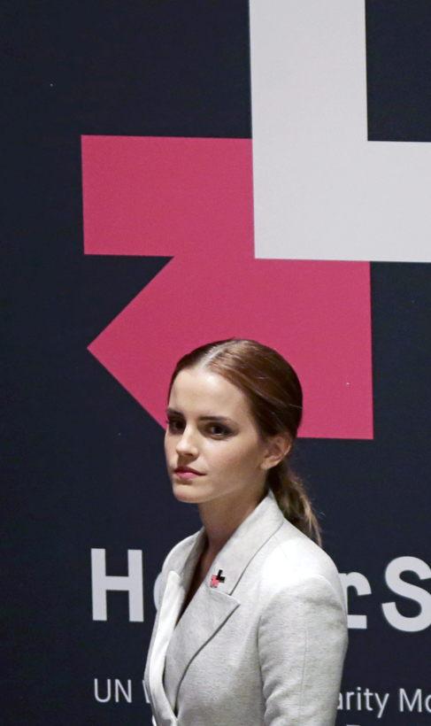 La actriz, el sábado en la sede de Naciones Unidas.