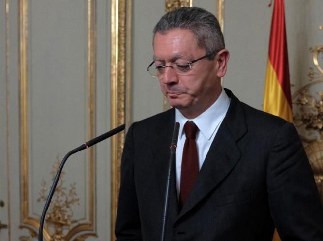 Alberto Ruiz-Gallardón, en un momento de su comparecencia.