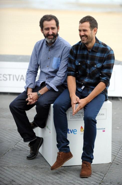Jon Garano y Jose Mari Goenaga en el estreno de 'Loreak' en...