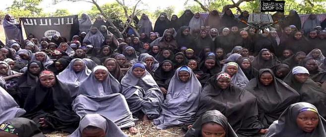 Imagen del vídeo difundido por Boko Haram.