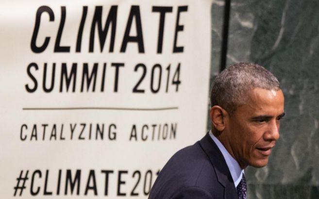 El presidente de EEUU Barack Obama, en la Cumbre del Clima de Nueva...