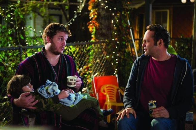 Chris Pratt y VInce Vaughn (a la derecha) en una escena de la...