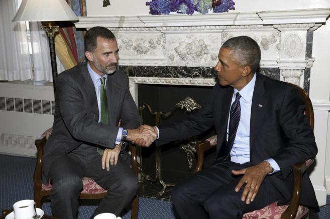 El Rey de España y el presidente de Estados Unidos, Barack Obama, se...