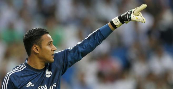 El portero costarricense del Real Madrid, Navas.