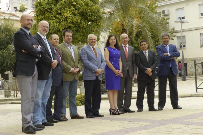 Los miembros del jurado de El Caminante, reunido este martes en Jaén