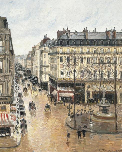 La obra 'Calle de Saint Honoré después del mediodia, efecto de...