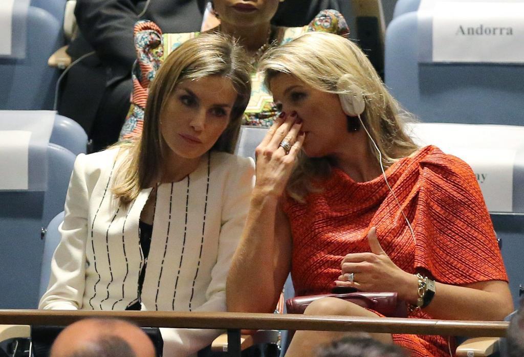 La Reina Letizia con Máxima de Holanda en la Asamblea General de la ONU.