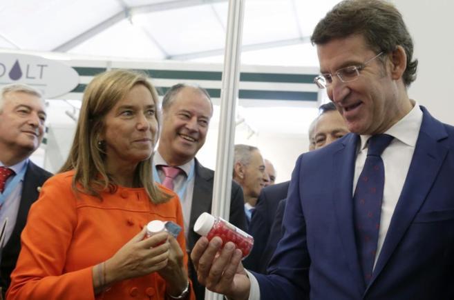 La ministra de Sanidad, Ana Mato, en el congreso de biotecnología,...
