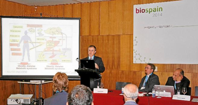 Una de las charlas del congreso Biospain en Santiago de Compostela.