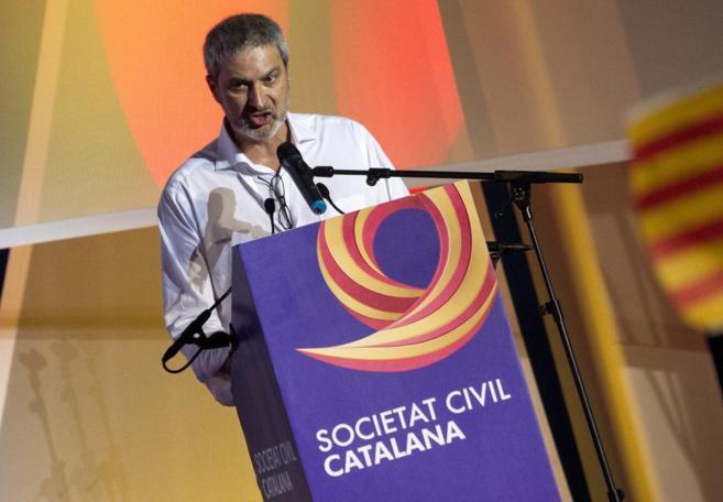Josep Ramon Bosch, presidente de Societat Civil Catalana, en un acto.