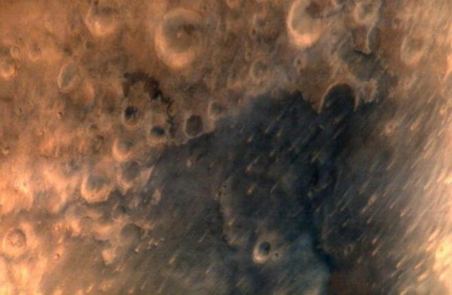 Imagen de la superficie marciana tomada por el orbitador...