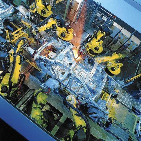 Una planta de automoción, basada en la tecnología de automatización...
