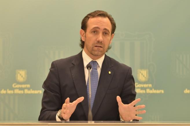 El president del Govern balear en rueda de prensa en el Consolat de...