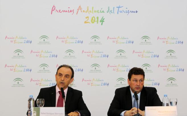 Rafael Rodríguez y Manuel Molina, en Turismo Andaluz.