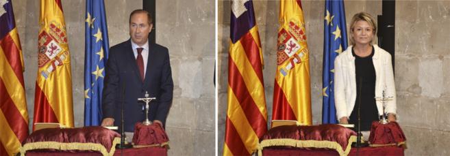 Juan Manuel Lafuente (izquierda) y Núria Riera (derecha) han tomado...