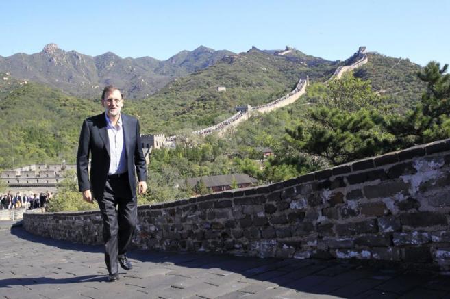 El presidente del Gobierno, Mariano Rajoy, visita la Gran Muralla...