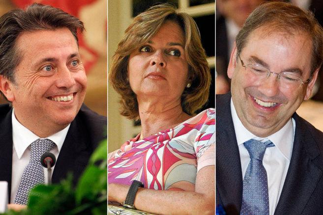 Los ex consellers Manuel Cervera, Alicia de Miguel y Luis Rosado.