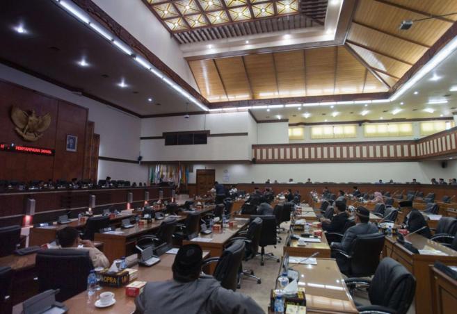 El parlamento de Aceh, en la votación de este sábado.