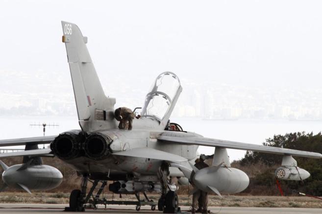 Uno de los Tornados de la RAF.