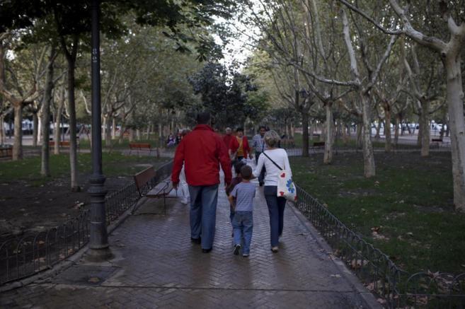 La normalidad ha vuelto al Parque Calero de Ciudad Lineal. / JAVIER...