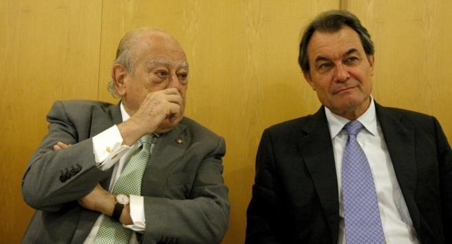 Jordi Pujol (i) y Artur Mas en una imagen del pasado mes de julio
