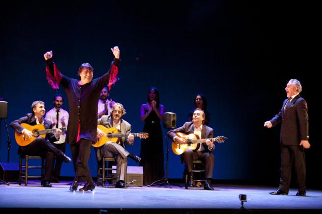 Antonio Canales, durante la actuación en la Bienal de Flamenco de...