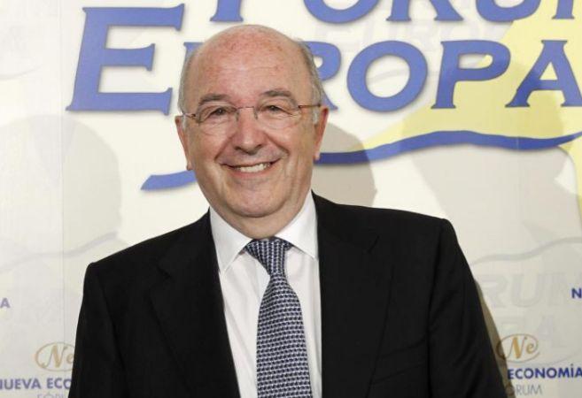 El comisario de la Competencia, Joaquín Almunia, en el Fórum Europa.