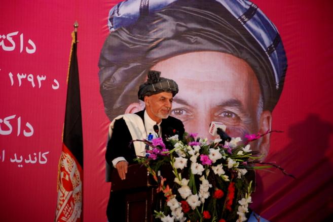 Ashraf Ghani, en un mitin electoral en Kabul.