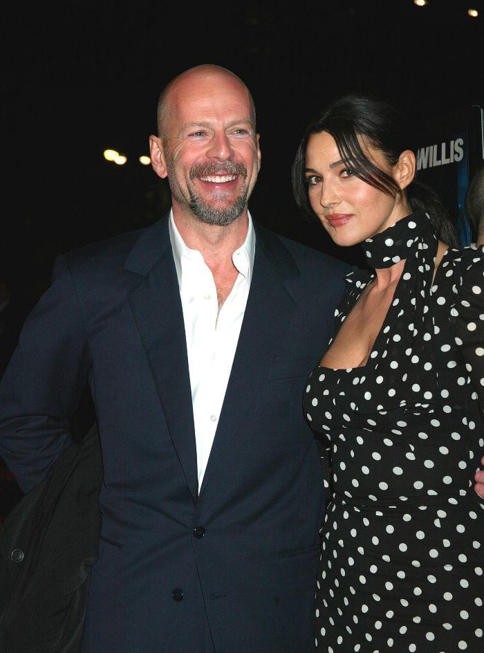 El Actor Bruce Willis Y La Actriz Monica Bellucci Loc