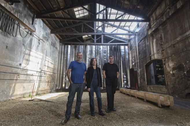 Los tres miembros fundadores de RCR Arquitectes: Rafael Aranda, Carme...