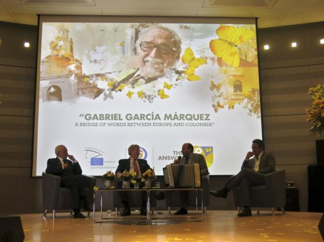 Reciente homenaje a García Márquez en el Parlamento Europeo.