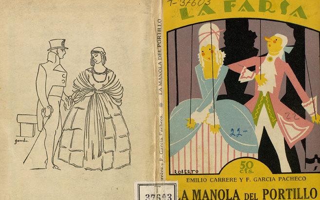 Libreto de la zarzuela en tres actos, 'La Manola del...