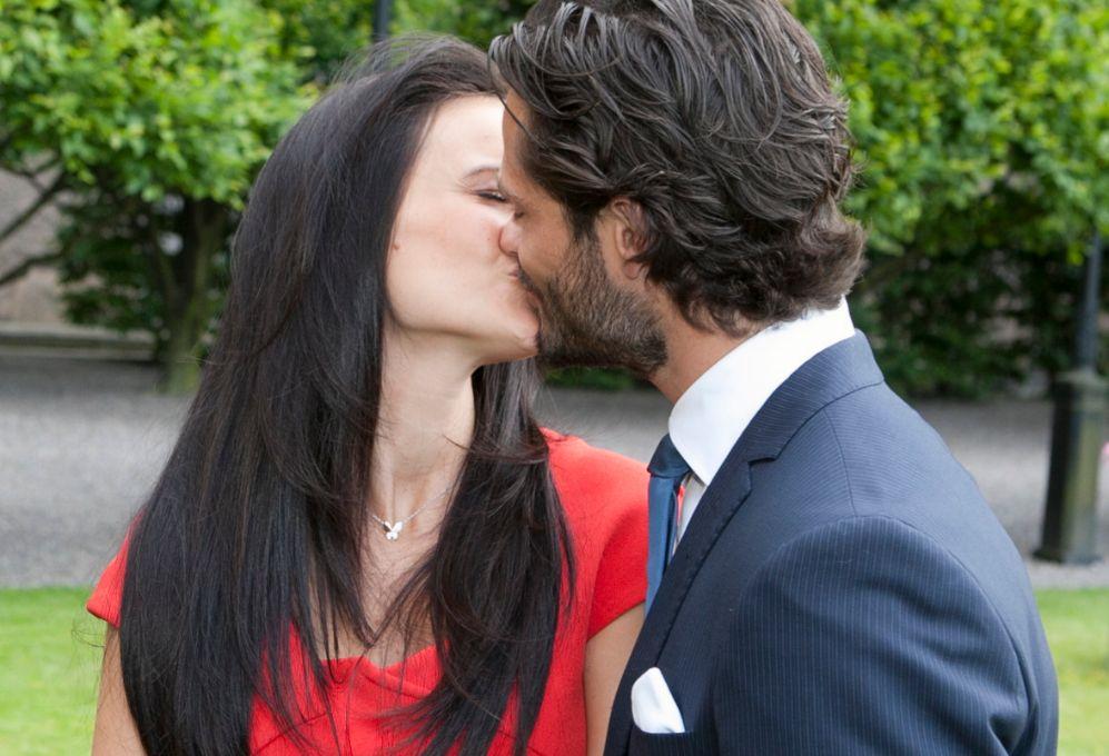 Uno de los momentos más románticos de la pareja.