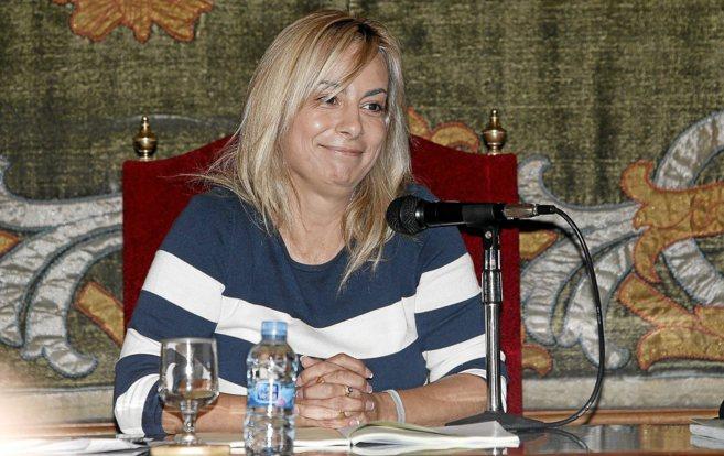 Sonia Castedo durante el pleno de este martes en Alicante.