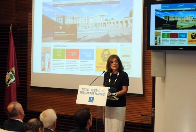 La alcaldesa de Madrid, Ana Botella, en la presentación de la nueva...