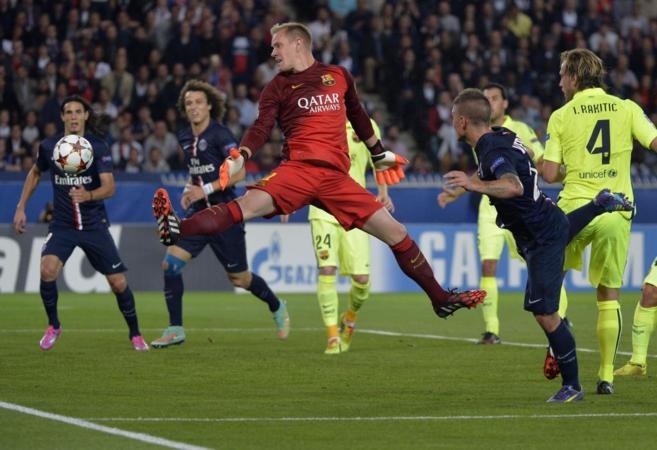 Ter Stegen falla en el gol de Marco Verratti.