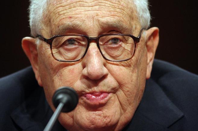 Henry Kissinger durante una comparecencia en Washington el 31 de enero...