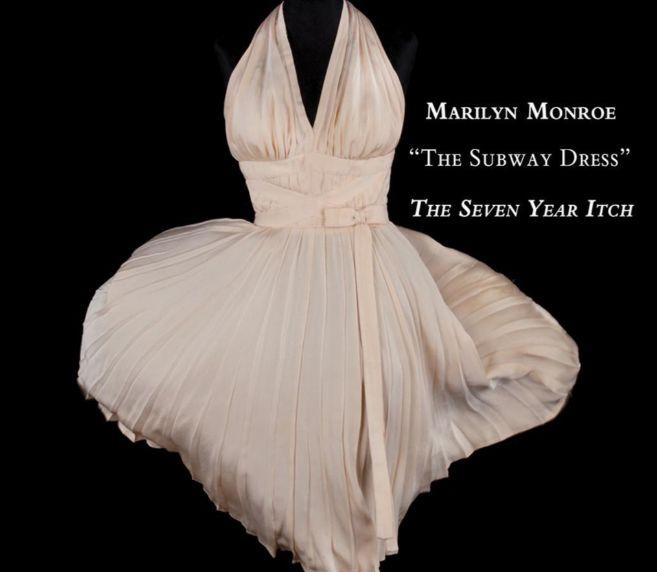 Vestido de Marilyn Monroe en 'La tentación vive arriba'