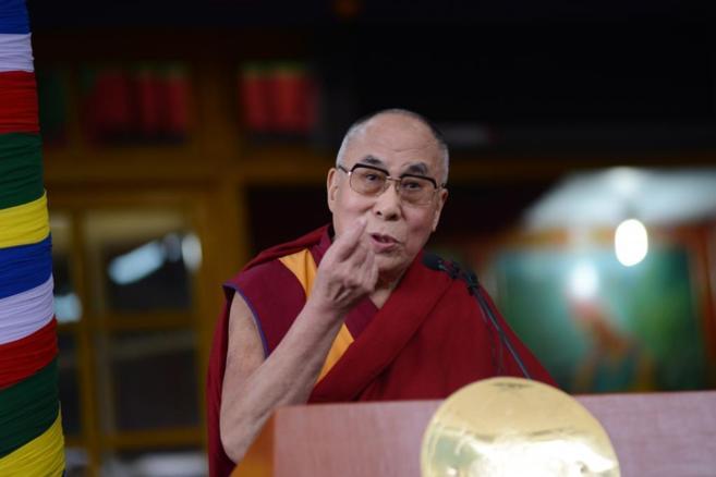 El líder espiritual tibetano, el Dalai Lama, durante uno de sus...