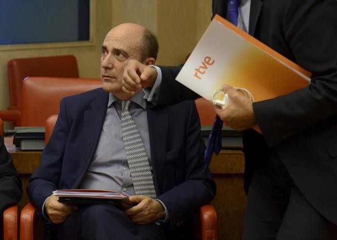 Enrique Alejo, director general corporativo de RTVE, antes de su...
