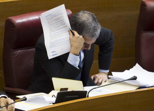 Ricardo Costa, diputado del PP e imputado en Gürtel, en su escaño de...